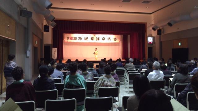 H26.10.19 第80回邦楽舞踊発表会